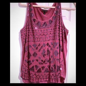 Express sleeveless shirt Burgundy